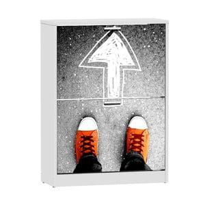 Skrinka na topánky s 2 výklopmi 13Casa Social Sneakers