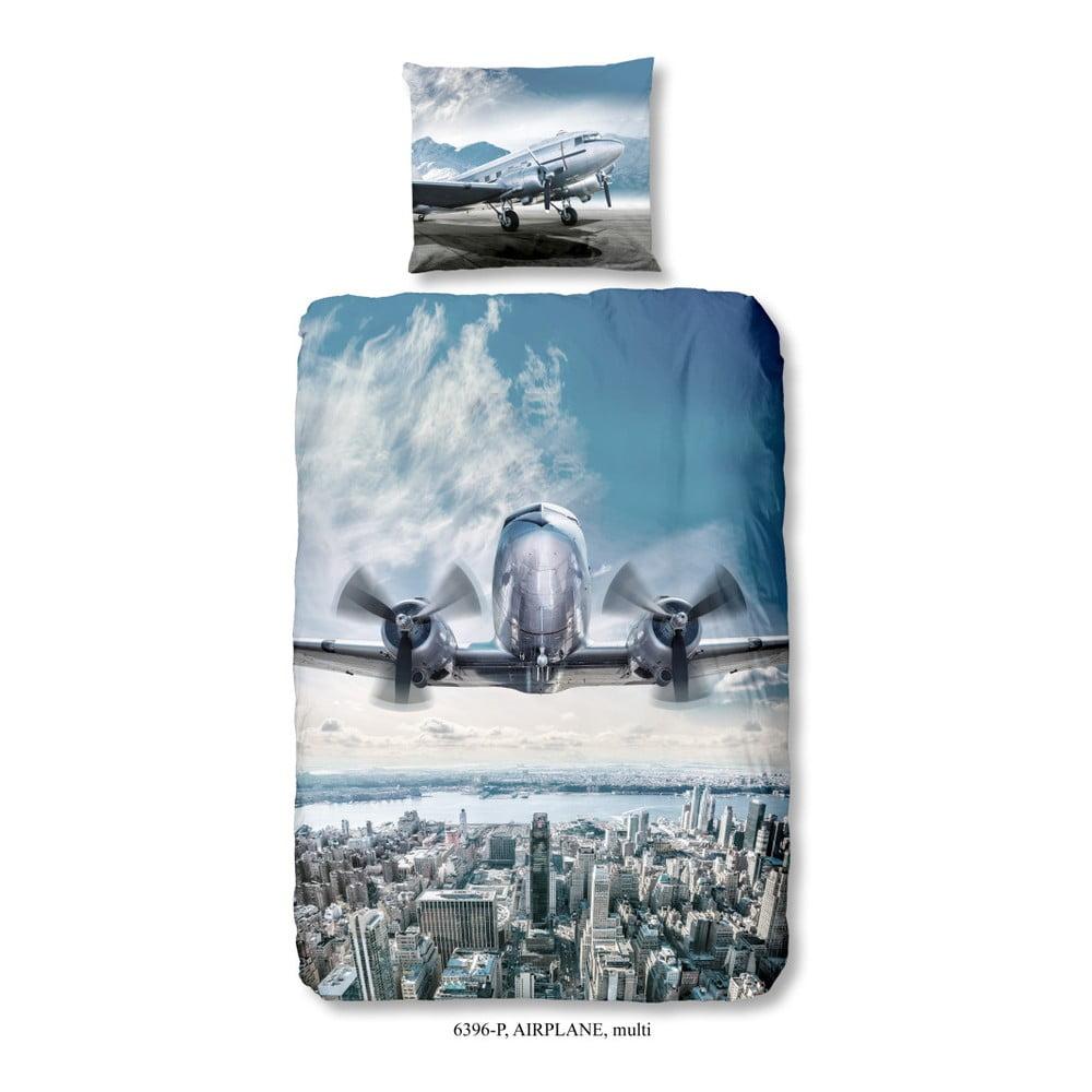 Detské bavlnené obliečky Muller Textiels Airplane, 140 × 200 cm