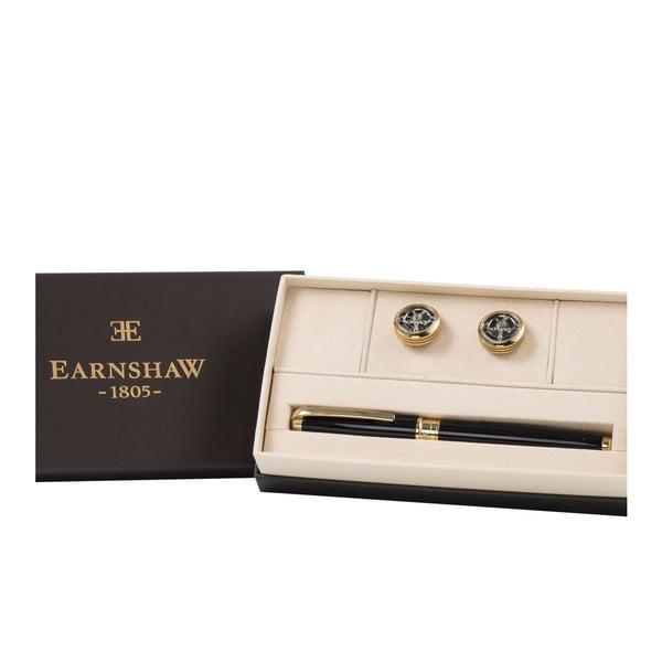 Set guľôčkového pera a manžetových gombíkov Thomas Earnshaw Gold