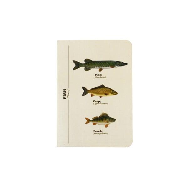 Zápisník Gift Republic Multi Fish, veľ.A6