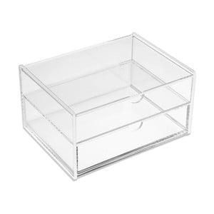 Úložný box s 2 zásuvkami Versa Double White Box