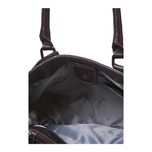 Kožená kabelka do ruky Canguru Tag, hnedá
