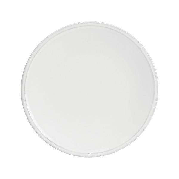 Biely kameninový dezertný tanier Costa Nova Friso, ⌀22cm