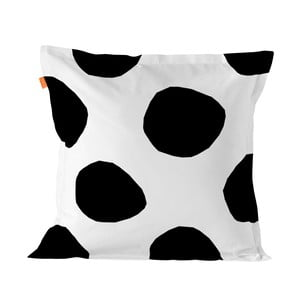 Balvnená obliečka na vankúš Blanc Dot, 60×60 cm