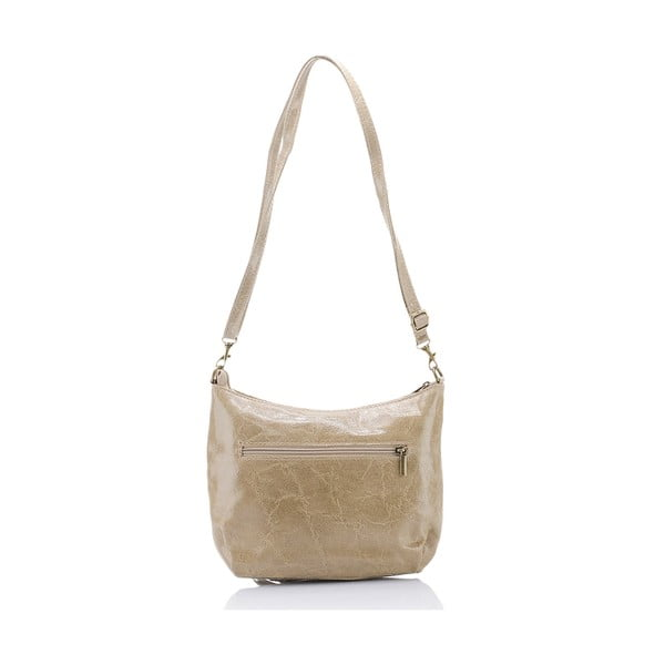 Béžová kožená kabelka Massimo Castelli Kendra