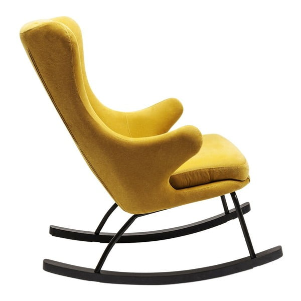 Žlté hojdacie kreslo Kare Design Oslo
