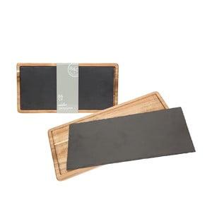 Servírovacia bridlicová doska Trivet, 40x20 cm
