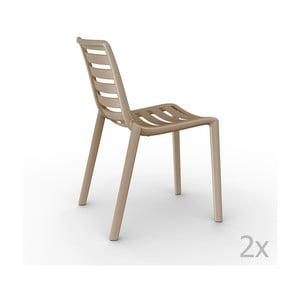 Sada 2 béžových záhradných stoličiek Resol Slatkat