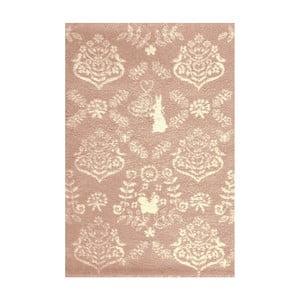 Ružový koberec Art For Kids Rabbit, 135×190 cm