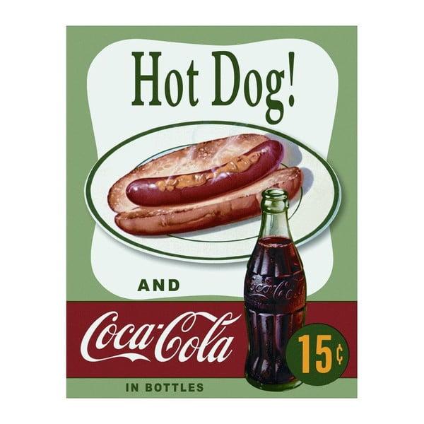 Plechová ceduľa Hot Dog & Cola, 30x40 cm