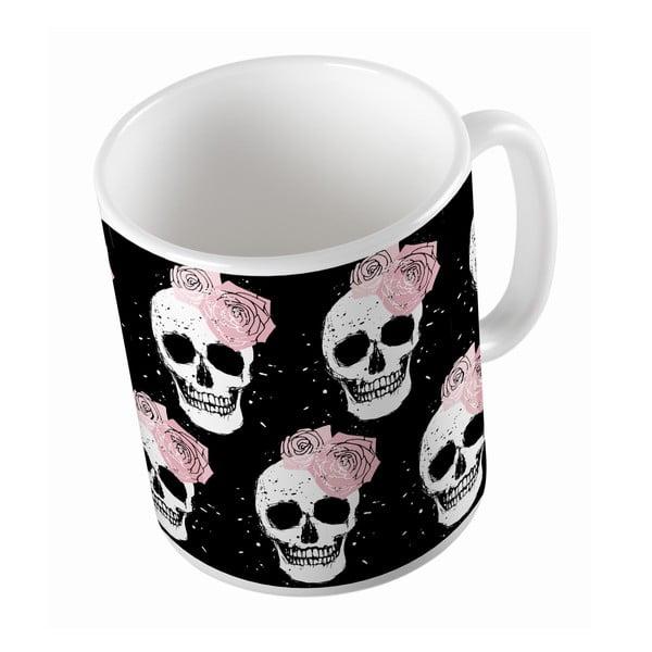 Keramický hrnček Lady Skull, 330 ml