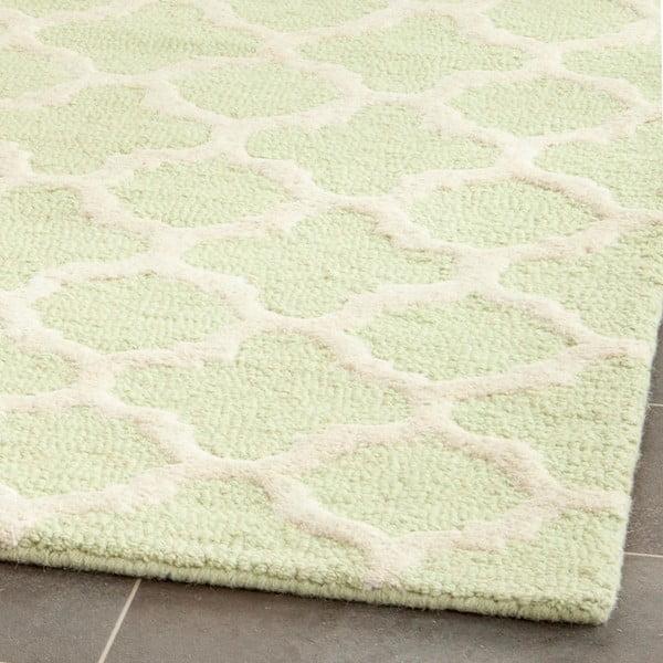 Vlnený koberec Bessa Light Green, 152x243 cm