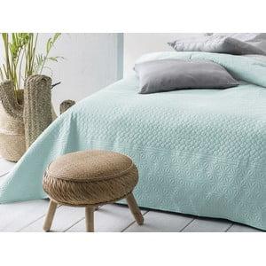 Mätovo zeleno-Sivý obojstranný pléd cez posteľ Slowdeco Buenos, 170×210 cm