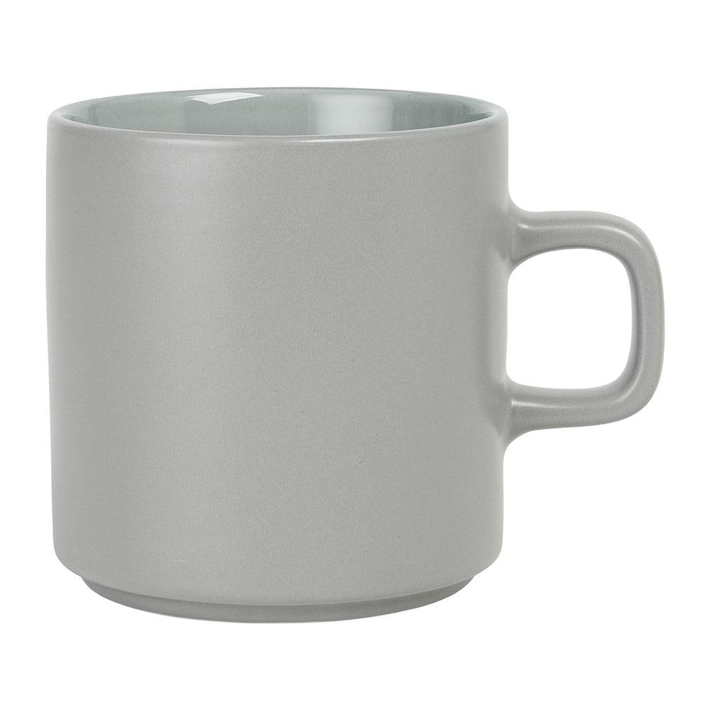 Sivý keramický hrnček na čaj Blomus Pilar, 250 ml