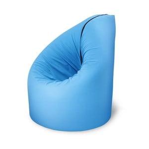 Modrá rozkladacia posteľ s kresielkom Paq Bed