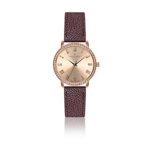Dámske hodinky s bordó remienkom z pravej kože Frederic Graff Ruinette