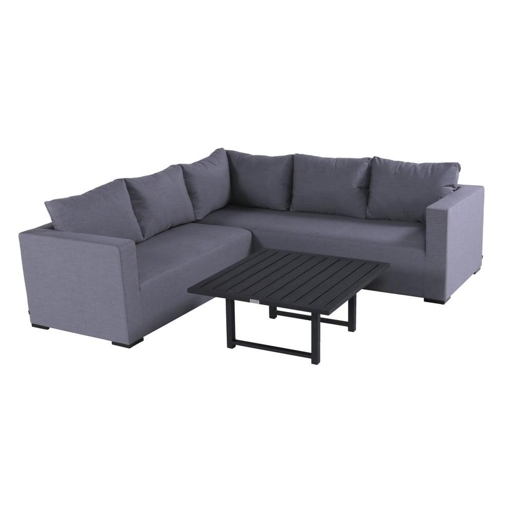 3127fe015d7b Set sivého záhradného nábytku a štvorcového stolíka Hartman Oliver