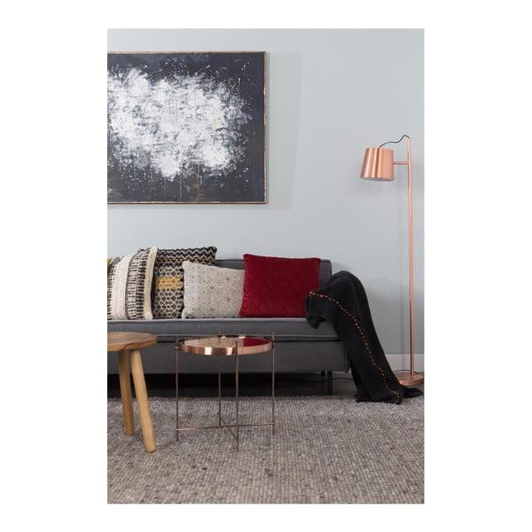 Čierny pléd Zuiver Aster, 170×130cm