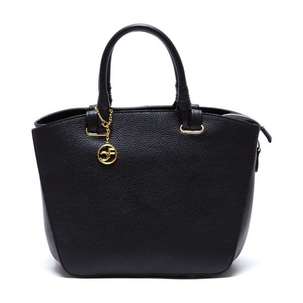 Kožená kabelka Ciara, čierna