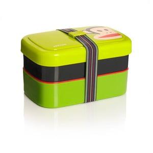 Dvojposchodový desiatový box, zelený