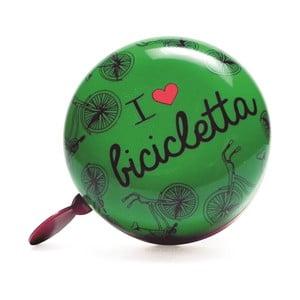 Zvonček na bicykel I ♥ Bicicleta, zelený