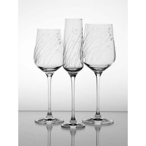 Ateliér Žampach, set 2 ks pohárov na biele víno Ľan