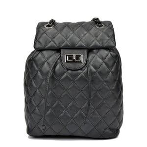 Čierny dámsky kožený batoh Anna Luchini Mirma