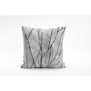 Čierno-biela obliečka na vankúš Mikabarr Pinion, 45 x 45 cm