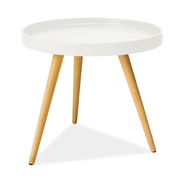 Konferenčný stolík Toni 50 cm, biely