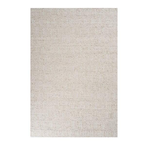 Béžový koberec s prídavkom vlny Justin, 140x200cm