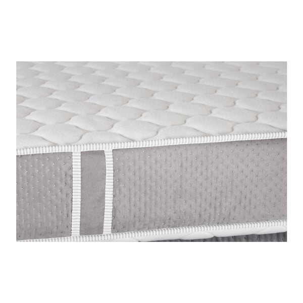 Sivá posteľ s matracom Stella Cadente Syrius, 160x200cm
