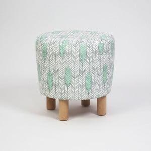 Taburet s drevenými nohami Cono Pluma, ⌀ 41 cm