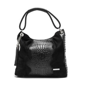 Čierna kožená kabelka Luisa Vannini Coco