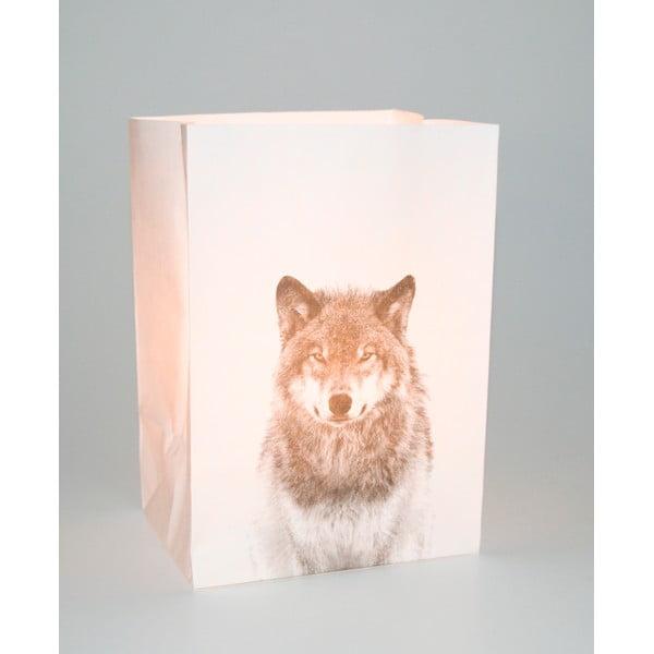 Sada 2 papierových obalov na sviečku Novoform Wolf