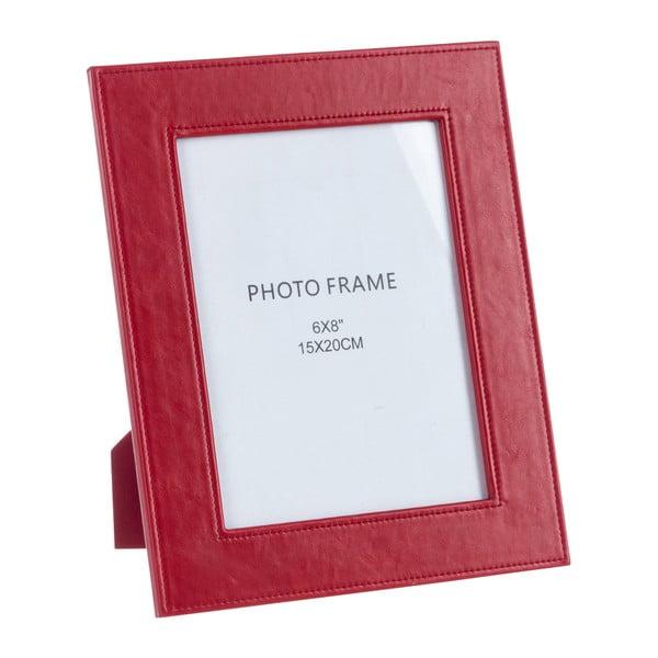 Koženkový fotorámik Red, 22x27 cm