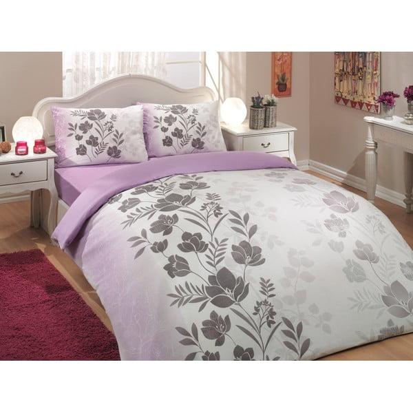 Obliečky s plachtou Flore Lilac, 200x220 cm