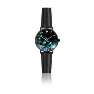 Dámske hodinky s čiernym remienkom z pravej kože Emily Westwood Dream