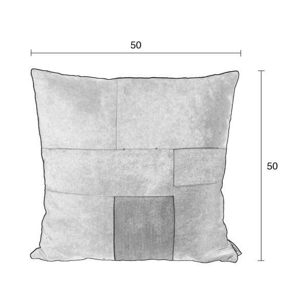 Vzorovaný vankúš s výplňou Zuiver Ridge, 50 x 50 cm