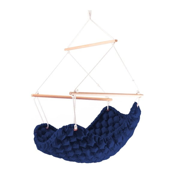 Interiérové hojdacie kreslo Swing In Mystic, námornícka modrá