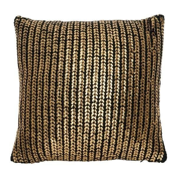 Vankúš Gold Knit, 45x45 cm
