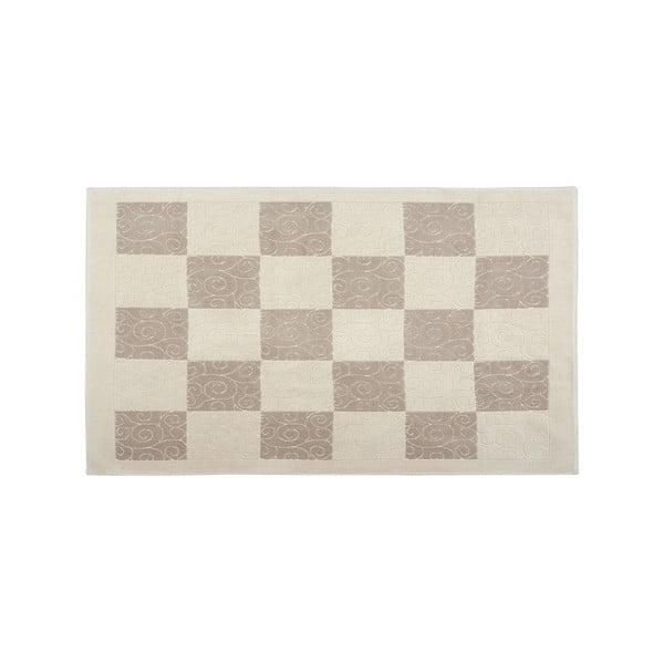 Bavlnený koberec Check 80x150 cm, krémový