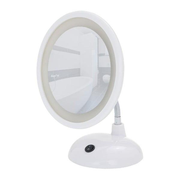 Biele kozmetické zrkadlo s LED svetlom Wenko Style