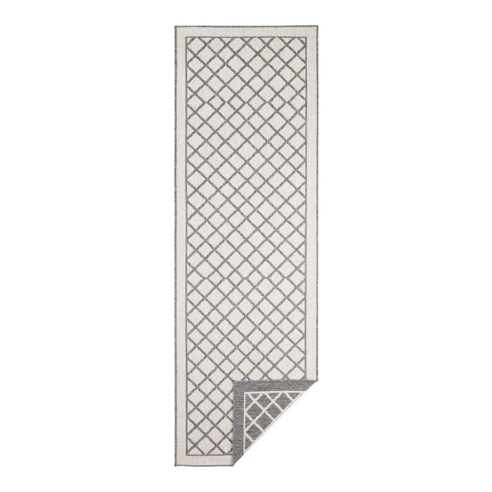 Sivo-krémový vonkajší koberec Bougari Sydney, 250 x 80 cm