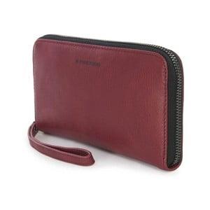 Červená listová kabelka z talianskej kože Tucano Sicuro