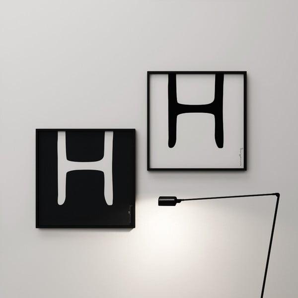 Plagát Litera H, 50x50 cm