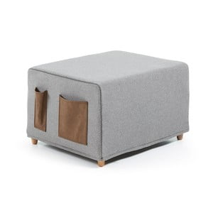 Sivá rozkladacia posteľ La Forma Kos, 70×180 cm
