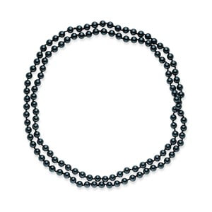 Modrý perlový náhrdelník Pearls Of London, 120 cm
