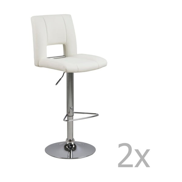Sada 2 bielych barových stoličiek Actona Wilma Barstool