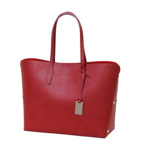 Červená kabelka z pravej kože Andrea Cardone Eulalia