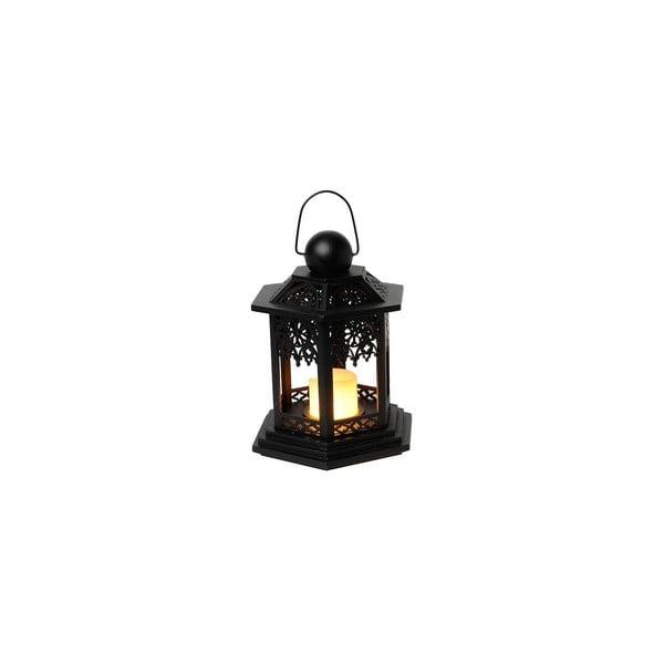 LED lampáš Christmas 20 cm, čierna